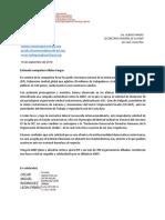 Carta de apoyo de la ISP a la ANEP