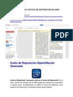 Analisis de Los Costos de Reposicion en Giro Servicios c