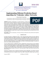 Algorithm for Vehicular Adhoc Networks
