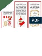 Triptico Los Simbologia de La Patria Peru