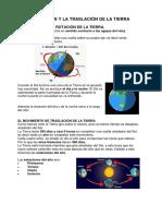 La Rotación y La Traslación de La Tierra