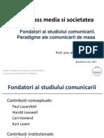 Mass media și societatea- fondatori