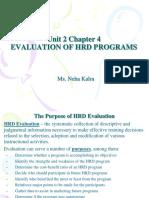 Evaluation of HRD Program