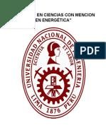 Maestría en Ciencias Con Mencion en Energética