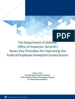 The Department of Defense Office of Inspector General's Seven Key Principles for Improving Our Federal Employee Viewpoint Survey Scores