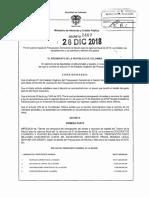 Decreto de Liquidación del Presupuesto Vigencia 2019