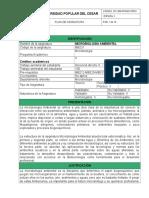 1. Formato Plan de Asignatura Microbiología Ambiental