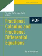 (Trends in Mathematics) Daftardar-Gejji, Varsha (Ed.) - Fractional Calculus and Fractional Differential Equations-Springer International Publishing (2019)