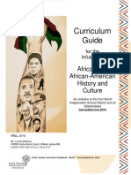 African and African American Curriculum Guidebook DRAFT