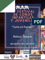 Convocatoria IV Festival de Coros de Nobsa