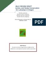 ODFW Draft Lamprey Plan