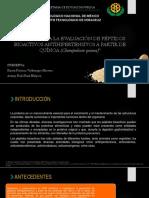 Estudio Para La Evaluacion de Peptidos Bioactivos Antihipertensivos