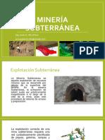 Minería subterránea