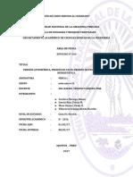 Informe de Practica Nº 009 Presión Atmosférica, Presión de Vacío, Presión de Pascal y Presión Hidrostática.