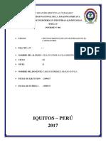 Informe de Practica Nº 001 - Reconocimiento de Materiales