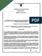 Resolución Acreditación Doctorado en Ingeniería Electrónica y de Computación
