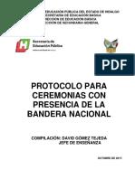 Protocolo Para Ceremonias Con Presencia de La Bandera Nacional
