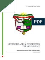 Unidad 1 Generalidades y Condiciones Del Aprendizaje