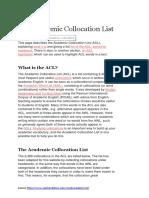 The Academic Collocation List