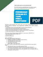 Perubahan Istilah Dalam Kurikulum 2013 Atau k13 Revisi 2017