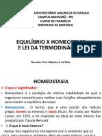 Equilíbrio x Homeostase e Leis Da Termodinâmica