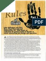 Sweetening Plants-Rules of Thumb Part 1