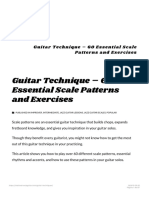 Guitar Technique - 60 Essential Scale Patterns for All Levels 1