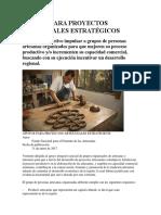 PROYECTOS ARTESANALES ESTRATÉGICOS