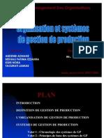 Organisation et systèmes de gestion de production