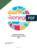 Programa Municipal de Estímulos 2019