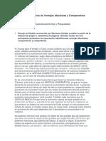 Foro de Análisis de Ventajas Absolutas y Comparativas