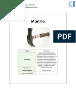 Ficha de herramientas de obra(carpintero