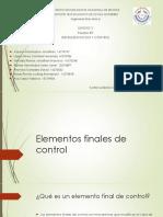 Unidad 5 Elementos Finales de Control
