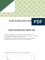 Aceros Microaleados Grano Fino