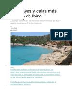 Las playas y calas más bonitas de Ibiza
