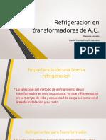 refrigeración de transformadores