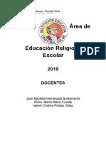 Educacion Religiosa Escolar 2019