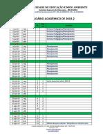 Calendário Acadêmico de 2019.2