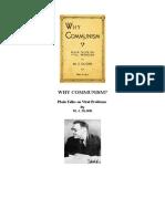 Why Communism Olgin
