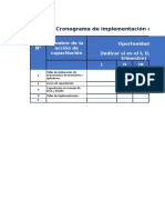 Calendario de Implementacion Apurímac