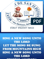 MDSI_First Friday Mass (English Songs)