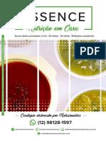 Cardápio Essence Nutrição Em Casa 2019