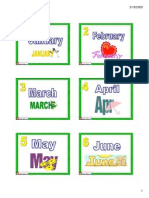 Flashcards Month Small