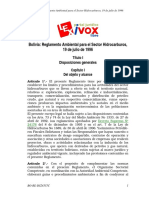 (RASH) Reglamento Ambiental Para El Sector Hidrocarburos