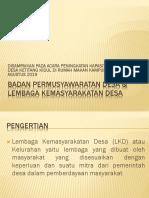 Presentasi Lembaga Kemasyarakatan Desa