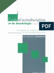 Code d'autodiscipline et de déontologie