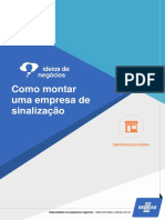 Empresa de Sinalização - Banner