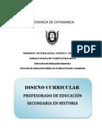 Diseo Curricular Profesorado de Historia 2014 Final