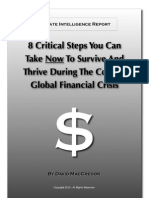 8 Critical Steps To Survive in Todays Economy