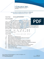 Human Development Syllabus